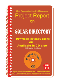 Solar Directory .DOC Manufacturing Project Report eBook
