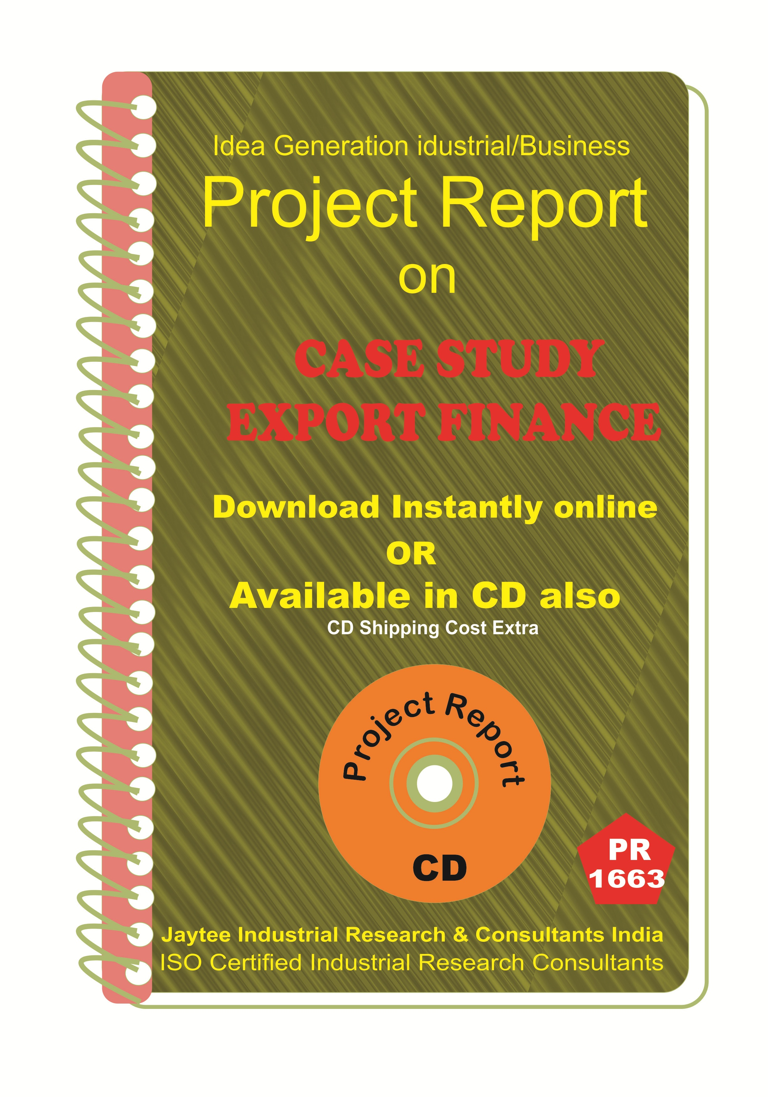 Case Study Export Finance Project Report eBook