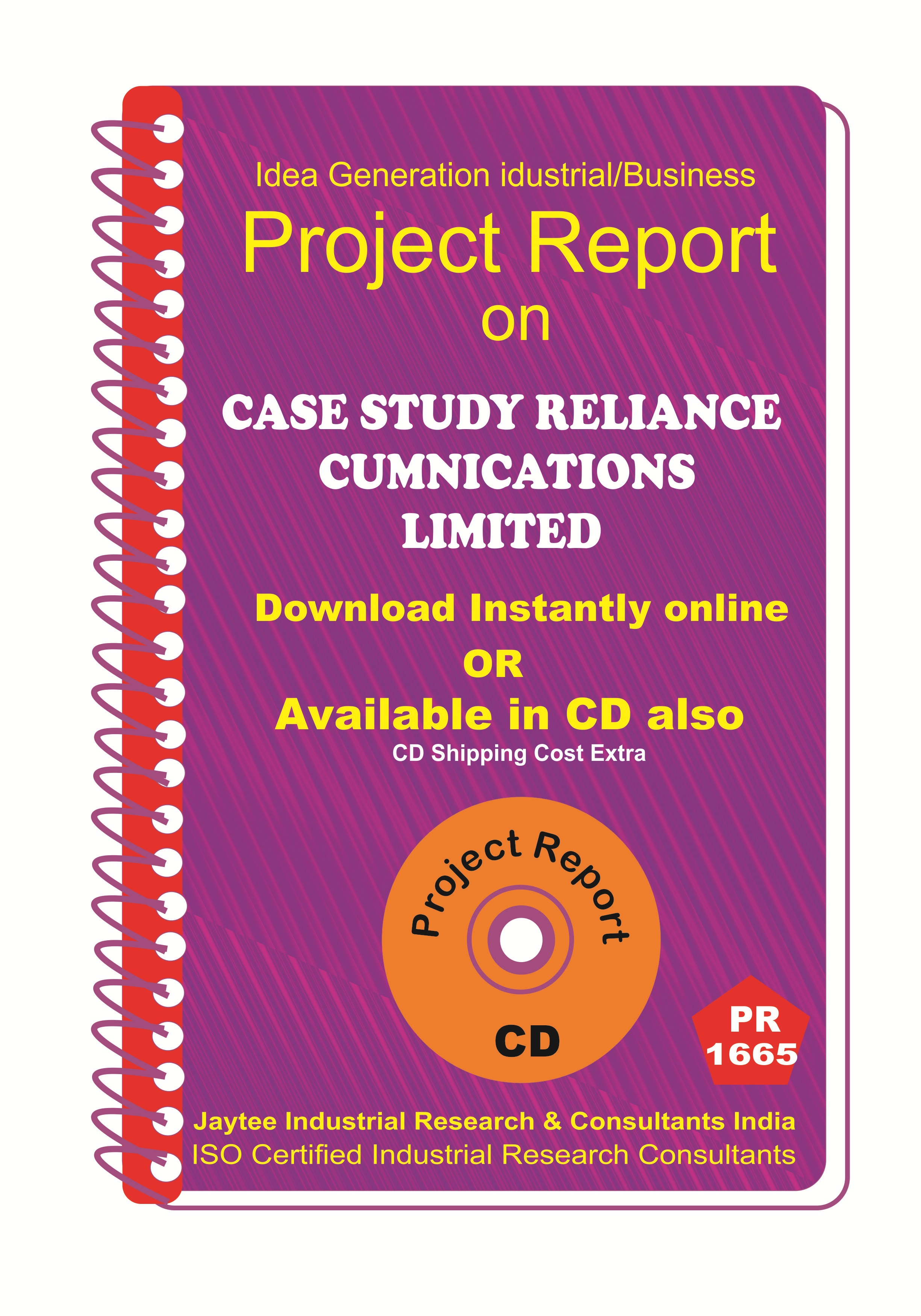 Case Study Reliance Communication Limited Project Report eBook