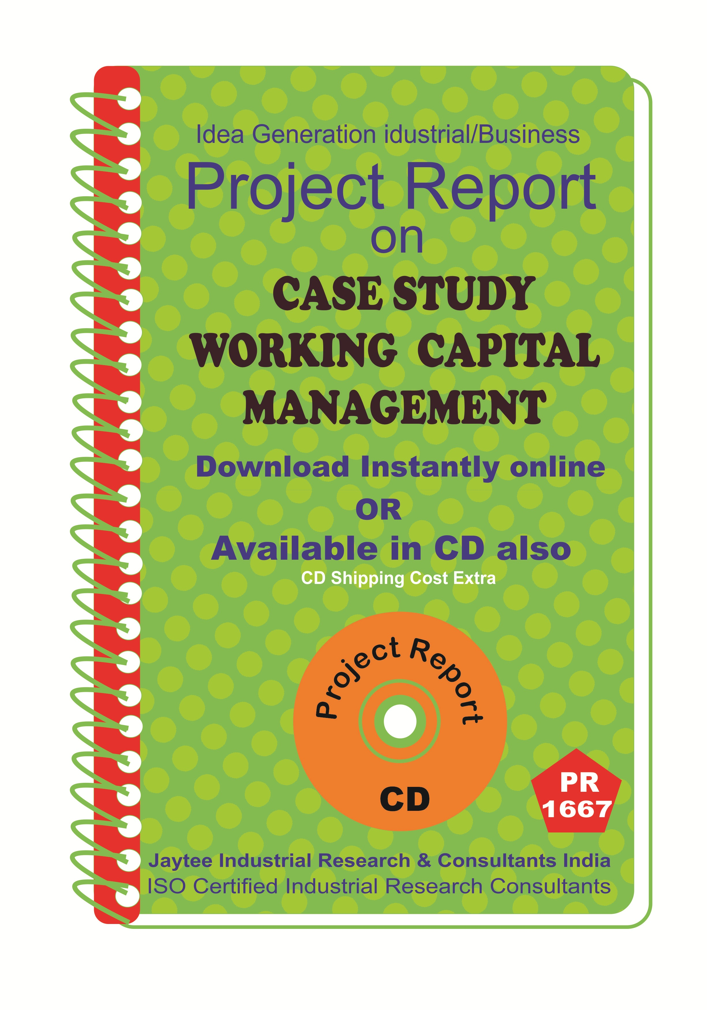 Case Study Working Capital Management Project Report eBook