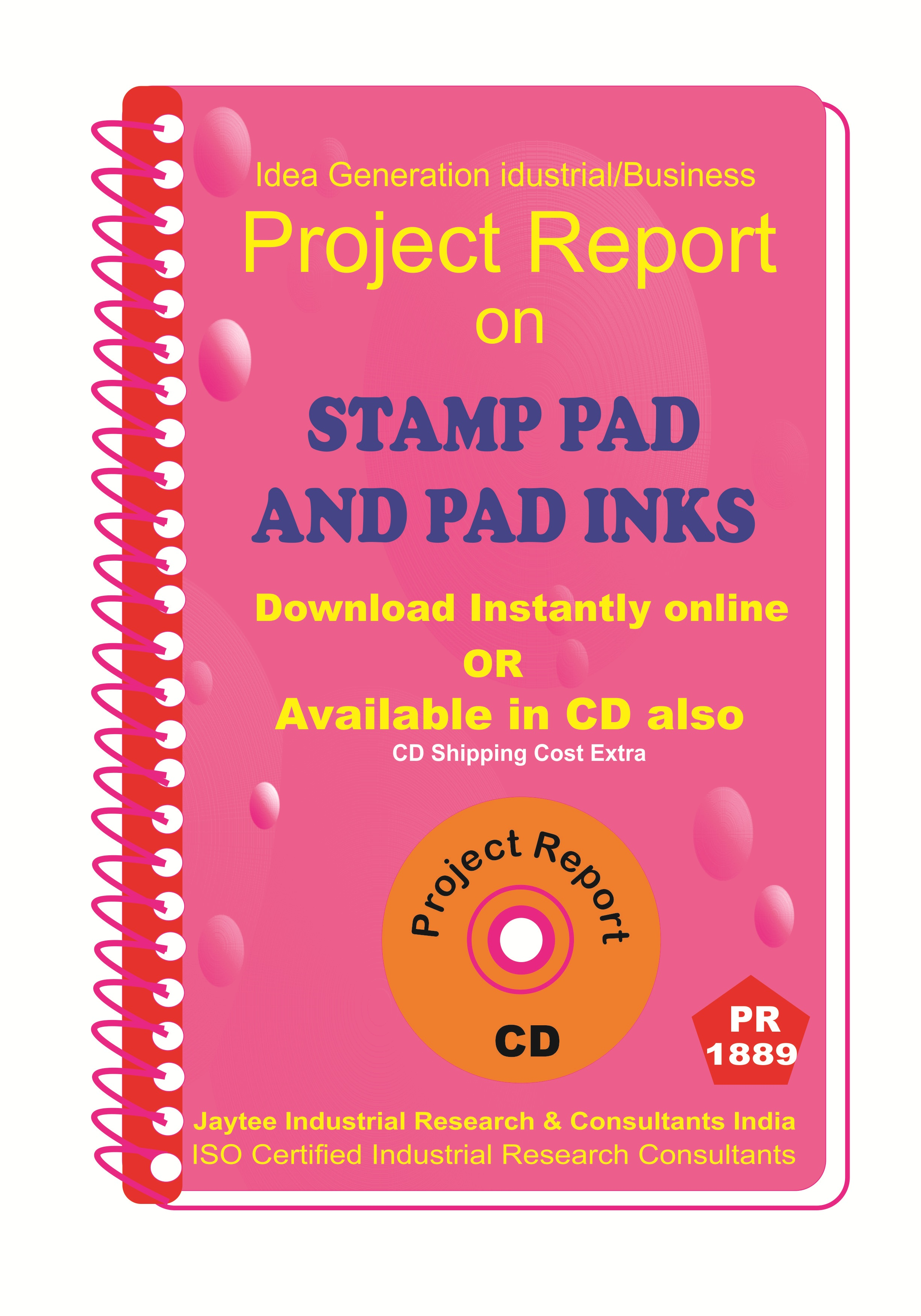 Stamp Pad And Pad inks manufacturing Project Report ebook