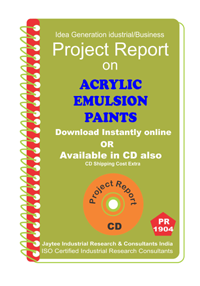 Acrylic Emulsion Paints Manufacturing Project Report eBook