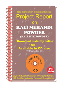 Kali Mehandi Powder ( Hair Dye Powder )project Report eBook