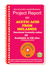 Acetic Acid From Molasses manufacturing Project Report eBook