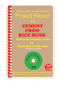 Cement From Rice Husk I manufacturing Project Report eBook
