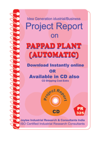 Pappad Plant (Automatic) Project Report manufacturing eBook