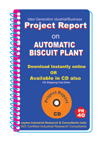Automatic Biscuit Plant Manufacturing Project Report eBook