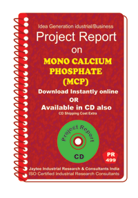 Mono Calcium Phosphate (MCP) manufacturing Project report eBook