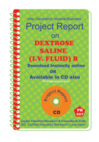Dextrose Saline (I.V.Fluid )B manufacturing Project Report eBook