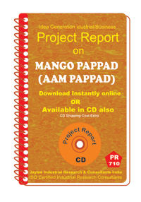Mango Pappad (AAM Pappad) manufacturing Project Report eBook