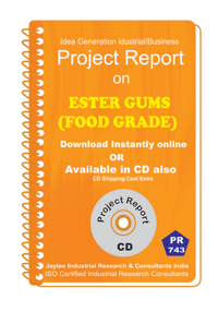 Ester Gums (Food Grade) manufacturing Project Report eBook