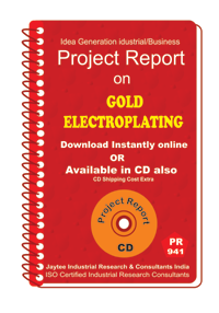 Gold Electroplating Manufacturing Project Report eBook